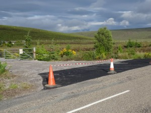 New access road to Casandamff Woodland from the B9176 Struie Road - 11 07 2016
