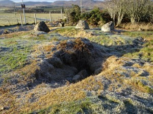 Cist within Edderton's Stone Circle - 28 11 2016